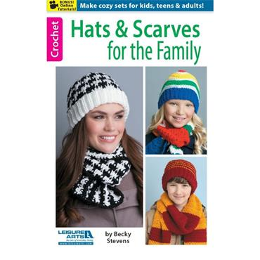 Hats & Scarves for the Family by Becky Stevens (Leisure Arts #75499)
