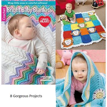 Bright Baby Blankets - Crochet (Leisure Arts #75521)