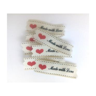 10 x Made With Love Labels  ***