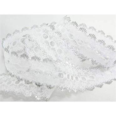 Dovecraft Knitting in Lace White & Silver x 1 Metre