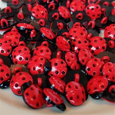 1 x Ladybird Button (15mm)