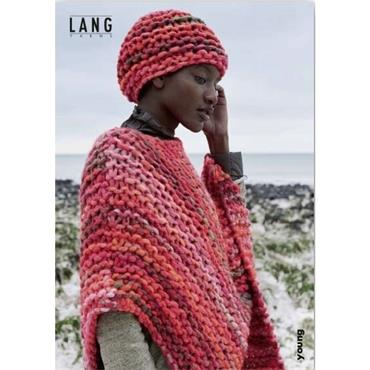 FREE with Lang 'Young' yarn >> Lang Booklet #456.0134 Poncho & Hat in Young