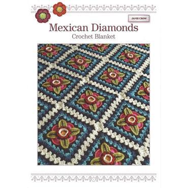 Janie Crow - Mexican Diamonds Crochet Blanket Pattern Booklet
