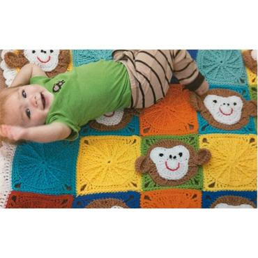 Leisure Arts Monkey Around Baby Blanket Pack (LA75521)