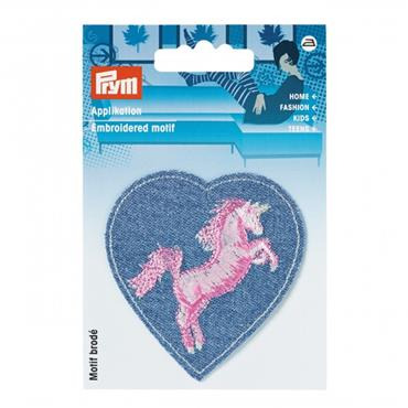 Prym Embroidered Motif - Unicorn Heart