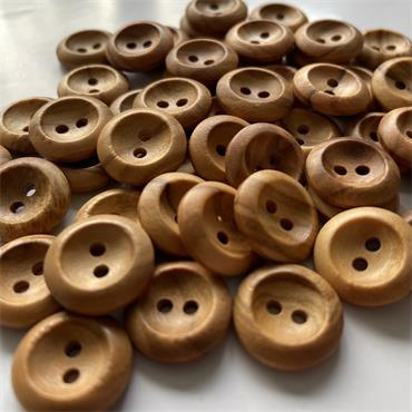 Olive Wood: 2-Hole Button (15mm)