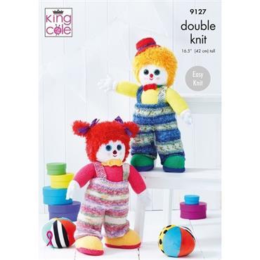 Yarn & Pattern Packs - King Cole #9127 Splishy & Splashy Clowns DK