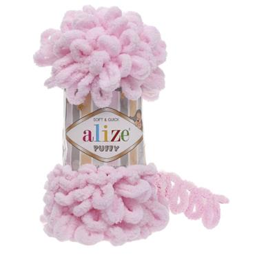 Alize Puffy - Finger Knitting Yarn (Free Baby Blanket Pattern)    ***