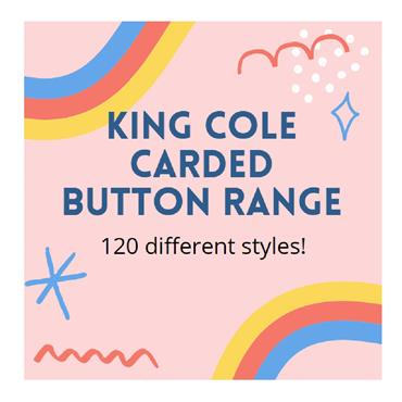 Carded Buttons - Various Sizes - 120 different styles from King Cole