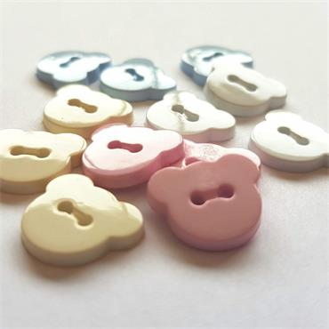 King Cole Cherished Bear Button Collection - 15mm