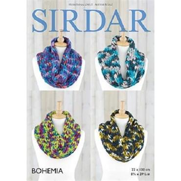Sirdar Bohemia Super Chunky - FREE snood pattern