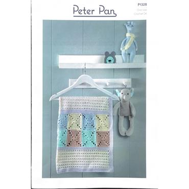 Peter Pan Pattern #P1328 Crochet Blanket and Bear Blankets in Cotton DK