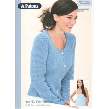 Patons Pattern #3710 Ladies Cardigan & Vest