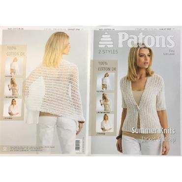 Patons Pattern #3902 Ladies Rib Lace Jacket & Wrap 5376 (3902)