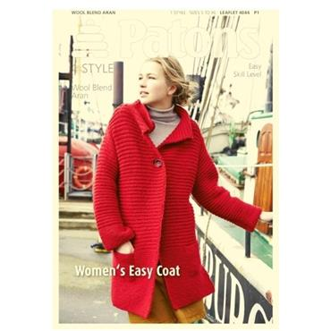 Patons #4044 Women's Easy Coat in Aran