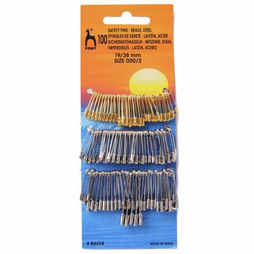 Pony Safety Pins - 19/38mm x 100