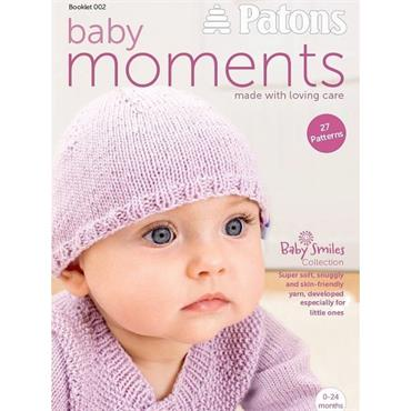 80 pages BABY BOOK...SALE ... 27 Designs, Patons Baby Moments - Knit & Crochet