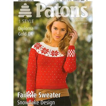 Patons Pattern #3883 Fair Isle Christmas Sweater in DK
