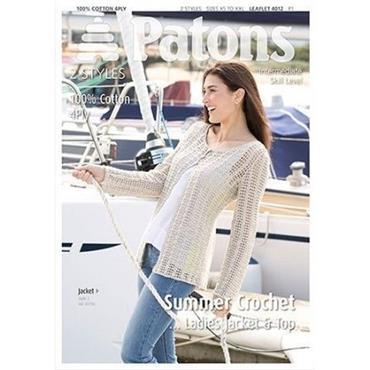 Patons Crochet #4012 Ladies Top & Jacket 4 ply
