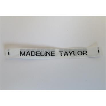36 x Personalised Woven Name Tape Labels