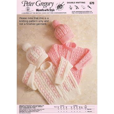 Peter Gregory Pattern #679 Child's Sweater, Hat & Cardigan