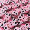 Owl Buttons - 20mm (Pink)