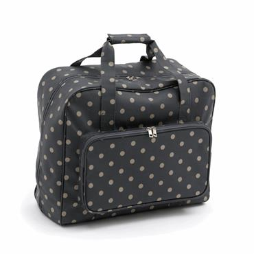 Sewing Machine or Travel or Craft  Bag - Charcoal Polka Dot