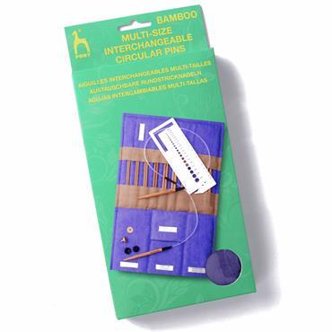 Bamboo Interchangeable Circular Knitting Needles