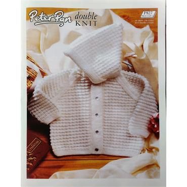 Pattern #827 Hooded Jacket Knitted in Big Value Baby