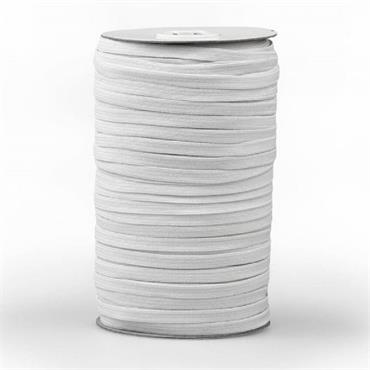 Elastic Tape White 6.5mm wide (1 metre long)