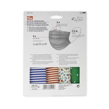 Prym DIY Face Masks -Sewing Kit, Pack of 4 (with FREE knitting pattern 5730)