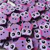 Owl Buttons - 20mm (Purple)