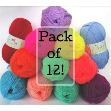 Yarn Pack: King Cole Pricewise DK  100g x 12 ASSORTED