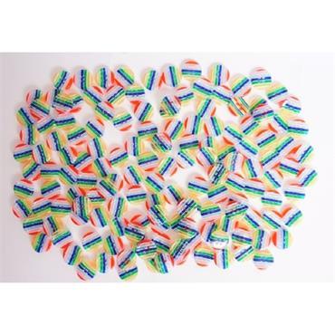 1 x Rainbow Button  Size 15MM