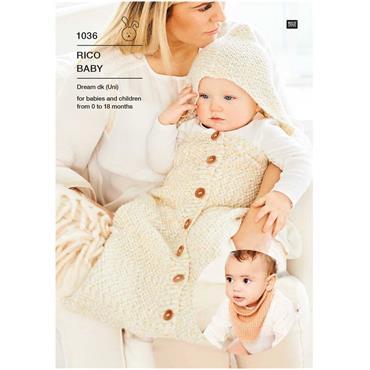 Rico Pattern #1036 Sleeping Bag & Shawl in Baby Dream dk