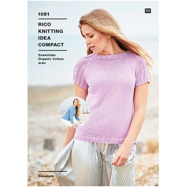 Rico Pattern #1081 Aran Sweaters in Organic Cotton