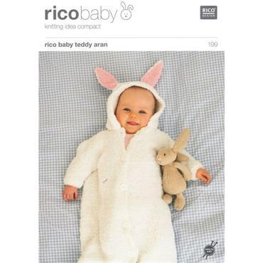 Rico Baby Pattern #199 Babies Sleeping Bag in Teddy Aran