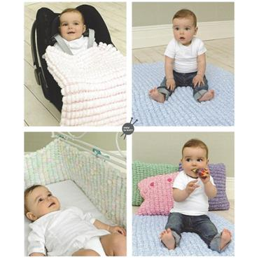 Rico Pattern #220 Cushion, Blanket, Play Mat & Cot Bumper in Pompon