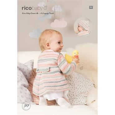 Rico Pattern #517 Coat & Beret in Rico Baby Dream dk