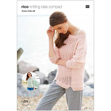 Rico Pattern #571 Sweaters in Creative Cotton DK