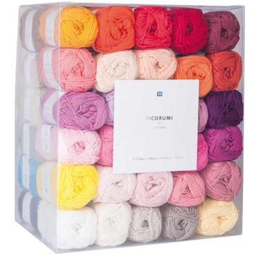 RicoRicorumi DK 100% Cotton 60 different shades Pack