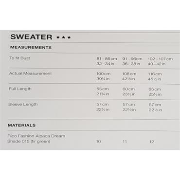 Rico Pattern #680 Sweater in Fashion Alpaca Dream