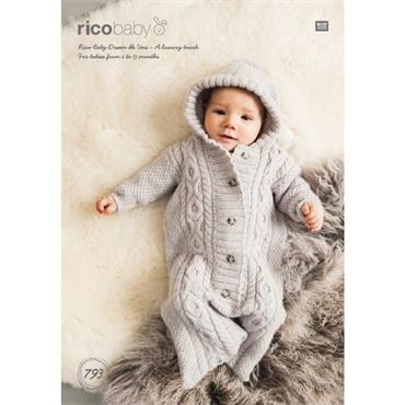 Rico Baby Pattern #793 Sleeping Bag in Rico Baby Dream dk Uni