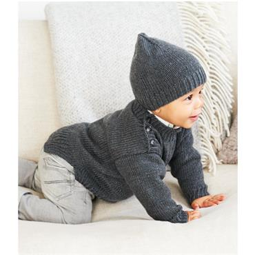 Rico Baby Pattern #843 Baby Sweater in Rico Baby So Soft DK