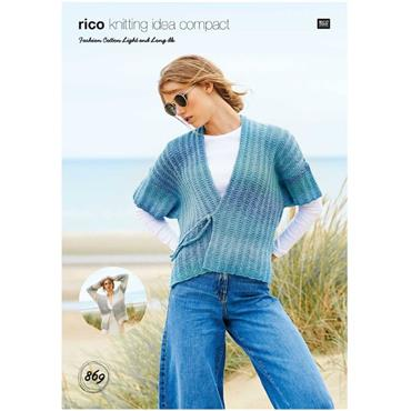 Rico Pattern #869 Jackets in Fashion Cotton Light & Long DK