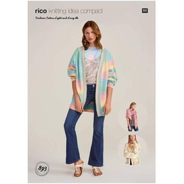 Rico Pattern #893 Cardigans & Shawl in Fashion Cotton Light & Long DK