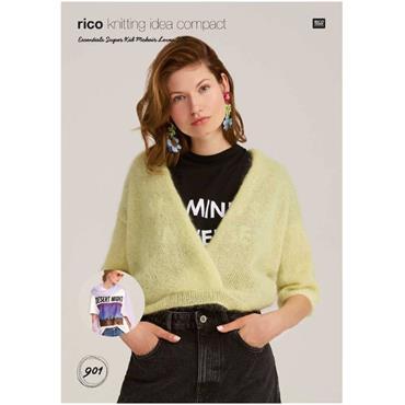 Rico Pattern #901 Top & Scarf in Super Kid Mohair Silk