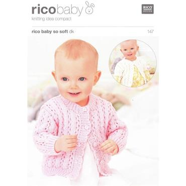 Rico Baby Pattern #147 Cardigans in So Soft DK