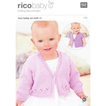 Rico Baby Pattern #148 Cardigans in So Soft DK