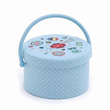 Round Sewing Box Basket    ***